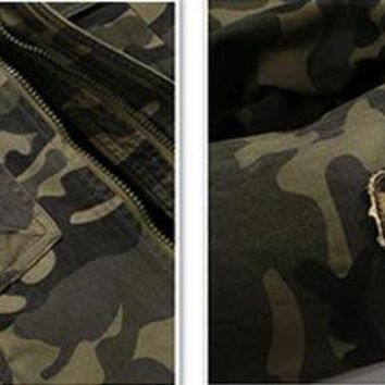 Men Camouflage Jackets 2018 New Arrival Spring Straight High Quality Streetwear Military Coats