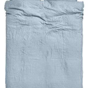 H&M Washed Linen Duvet Cover Set $129