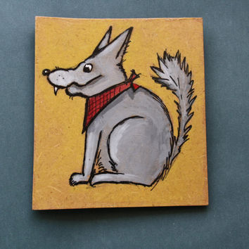 Magnet, fridge magnet, handpainted, mutt dog, watercolors, gift idea, dog lovers gift idea