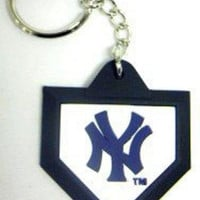 Schutt Keychain MLB New York Yankees  Home Plate