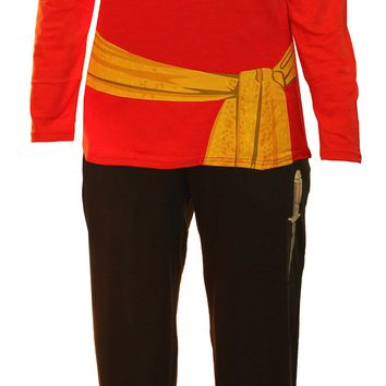 Star Trek Red Uhura Ladies Long Sleeve Costume Pajama Set