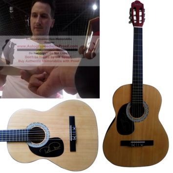 """Russell Dickerson Signed Full Size 39"""" Country Music Acoustic Guitar, Proof Photo"""