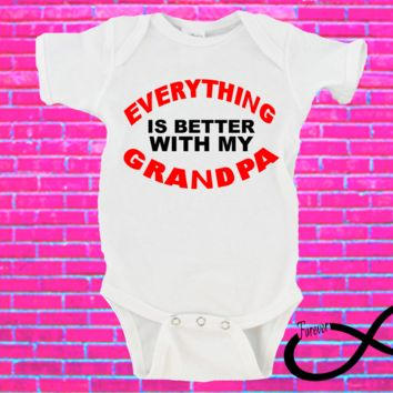 Everything is Better With My Grandpa Gerber Onesuit ®