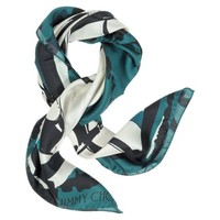 Jimmy Choo Designer Square Scarves Shoes Printed Silk Square Scarf