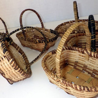 Beautiful Small Wicker Basket Sets - Made in the Philippines