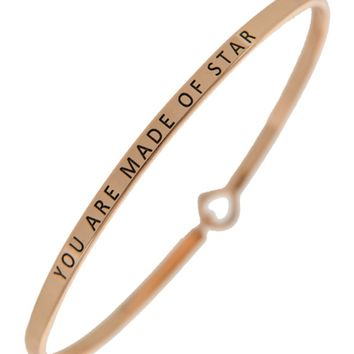 You are Made of Stars Being Bangle