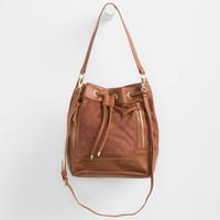 Madden Girl Bucket Bag Cognac One Size For Women 25049340901