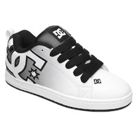 DC Shoes Mens Court Graffik SE Black White Print Shoes