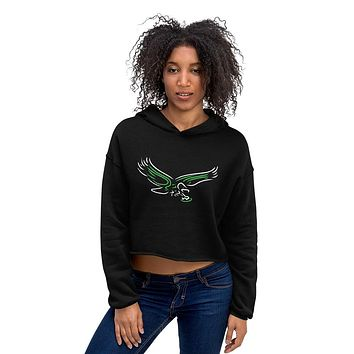 Neon Philadelphia Football Old School Bird Womens Crop Hoodie