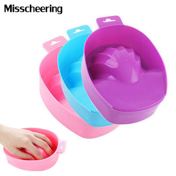 1pcs Hand Soak Bowl for Nail Tips Treatment Polish Remover Manicure Spa Nail Art Equipment