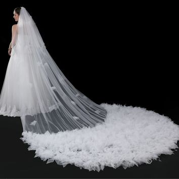 Pattern The Veil Wedding Dress Tailing Network Lace Foreign Trade European The Veil Bride The Veil Marry Wedding White The Veil