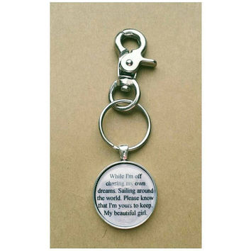 The Girl City and Color lyric quote Keychain