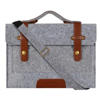 Mosiso 11.6 13.3 15.6 inch Men Felt Laptop Shoulder Bag for Macbook 12 Dell Acer 11 13 15 inch Notebook Strap Sleeve Case