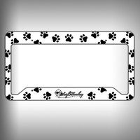 Paw Print Custom Licence Plate Frame Holder Personalized Car Accessories