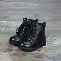 Fashion Designer Autumn-Winter TPR Baby Boys Girls Martin Boots 2016 Toddler Kids High End Sneaker Shoes Boot Military Tactical