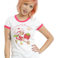 Strawberry Shortcake Scratch 'N Sniff Girls Ringer T-Shirt