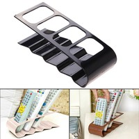 2017 New 3 Colors Home Appliance Remote Control Holder Practical Wrinkled 4 Section Stand Storage Holders