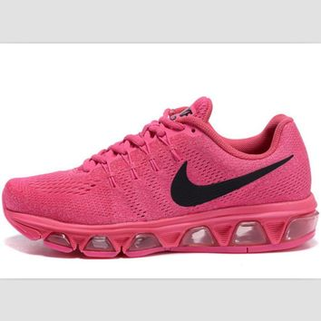 NIKE fashion knitted casual shoes sports running shoes Pink Black