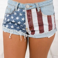Home Of The Brave Shorts (Light Wash)