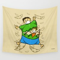 Happy Easter Wall Tapestry by Giuseppe Lentini