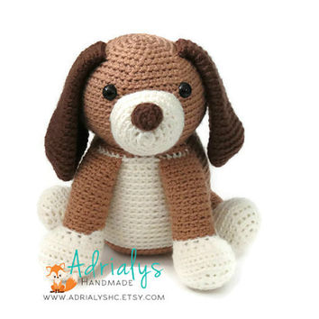 Crochet Dog | Crochet Dog | Crochet Animals | Crochet Toy | Dog Amigurumi | Plush Dog Toy | Stuffed Animal Dog | Made to Order