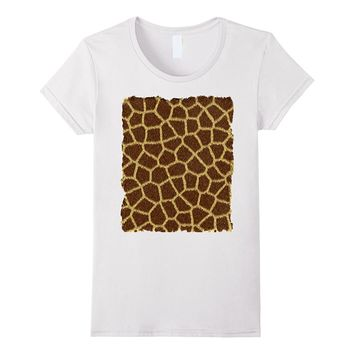 Giraffe Hide T Shirt - Animal Print-Lazy Costume- Fun Tee
