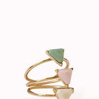 Faceted Geo Ring Set