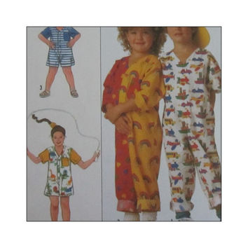 1980s Vintage Uncut  Simplicity Sewing Pattern 9127 Surf Club Child's Jumpsuit Size Small