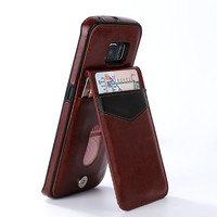 Case For Samsung Galaxy S7 edge S6 edge Leather Cases Flip Cover Wallet Buckle Stand Fundas For Galaxy S6 S7 Phone Accessories
