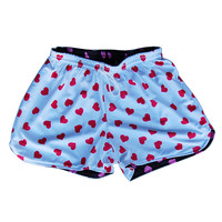 Women's Hearts Sublimated Reversible Lacrosse Shorts