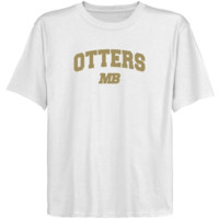 Cal State Monterey Bay Otters Youth White Logo Arch T-shirt