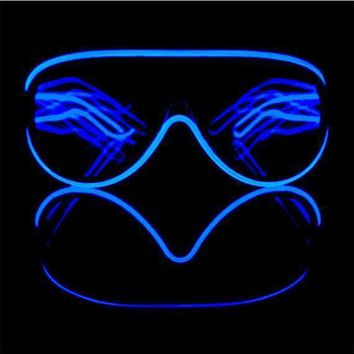 Customizable Aviator Luminescence Diffraction Glasses