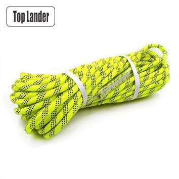30m Climbing Rope 12mm Diameter Multipurpose Safety Rope for Rock Tree Wall Climbing Rescue Fire Escape Downhill High Strength