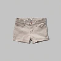 girls a&f shortie twill shorts | girls clearance | Abercrombie.com