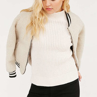 BDG Waffle Stitch Mock-Neck Sweater - Urban Outfitters