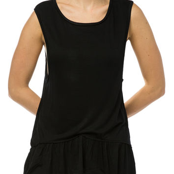 Girls Drop Peplum Tank