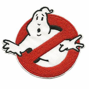 GhostBusters No Ghost Logo Embroidered Iron On Applique Patch