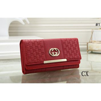 GUCCI trend female models versatile temperament clutch bag flip wallet #1