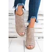 On Your Own Booties (Taupe)