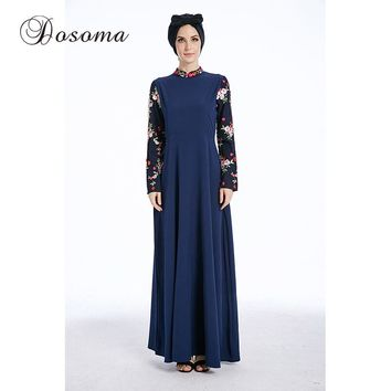 Fashion Muslim Winter Abaya Maxi Dress Embroidery CardiganRobe Gowns Ramadan Kimono Arab Dubai Thobe Islamic Clothing Prayer