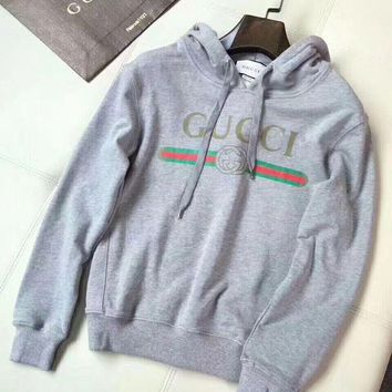 7f1fc72baa6 GPON0 Women Gucci Grey Hot Hoodie Cute Sweater