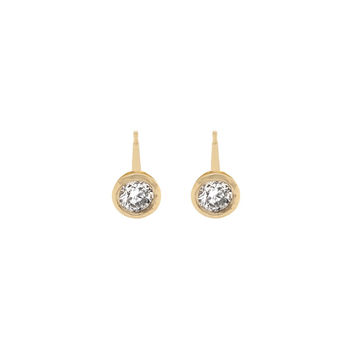 Tiny Bezel Diamond Studs