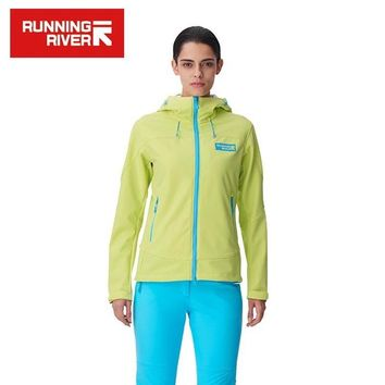 RUNNING RIVER Brand 2017 Softshell  For Women Waterproof Windproof Thermal High Quality Sport Coat Outdoor Clothes #E6182A