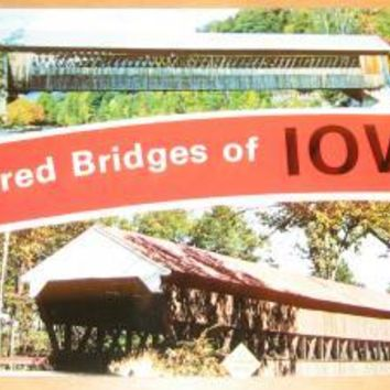 Vintage Covered Bridges of Iowa Postcard