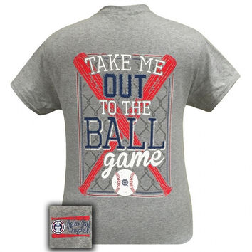 Girlie Girl Originals Preppy Baseball Take Me Out To The Ballgame T-Shirt