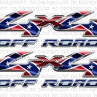 4x4 Redneck Rebel Flag Truck Decals F150 Ram Tundra
