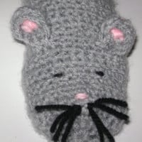 Crochet baby slippers mouse.Animal crochet slippers.Little mouse crochet slippers.