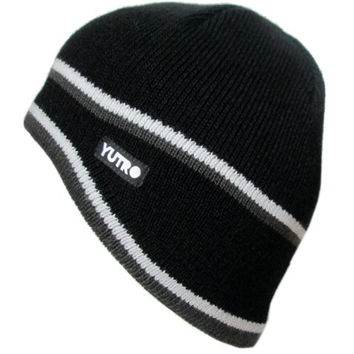 YUTRO Fashion Men's Thinsulate Wool Ski Winter Beanie Hat With Fleece Lining One Size Black