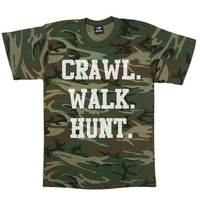 Crawl Walk Hunt Toddler's T-Shirt