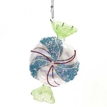 Holiday Ornaments WRAPPED MINT CANDY Glass Christmas Treat T2289 Green